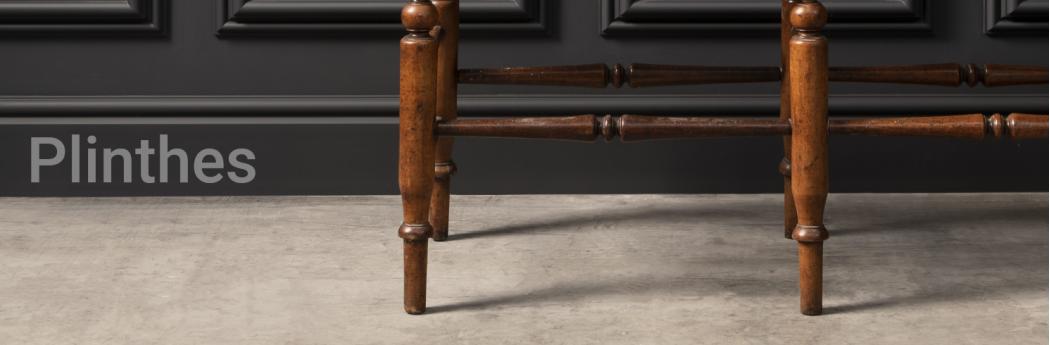 Plinthe murale, plinthe moulurée blanche | Architecture and Design